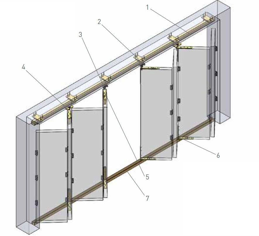 niko b folding door track systems