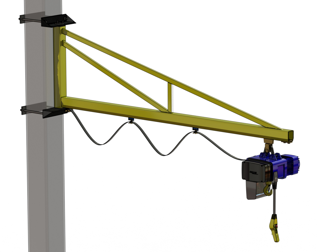 Swing Arm Hoist Mount : Niko jib crane