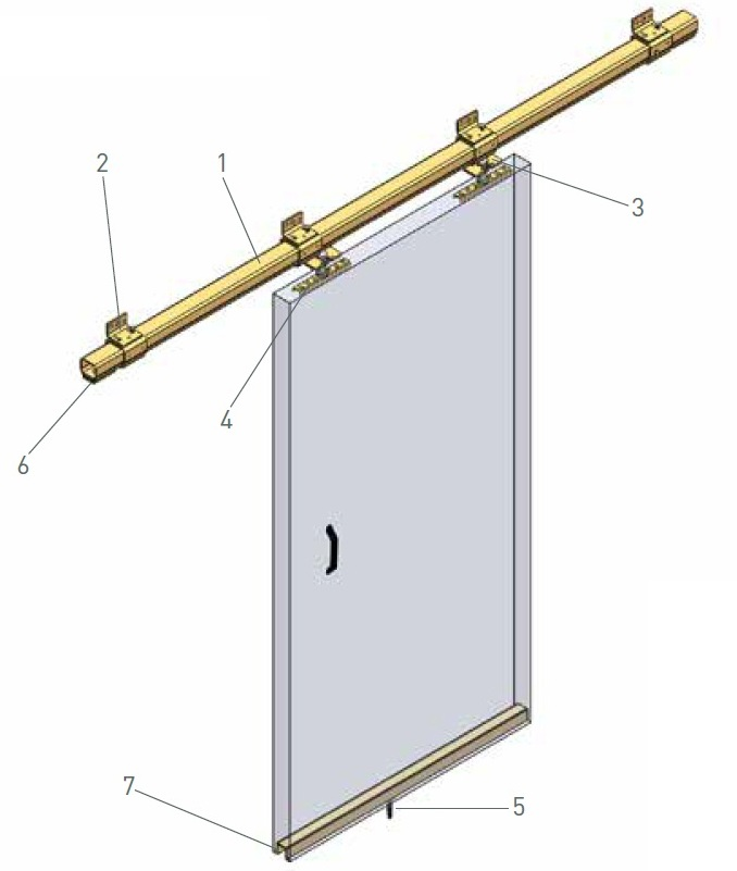 Straight Sliding Door Track System