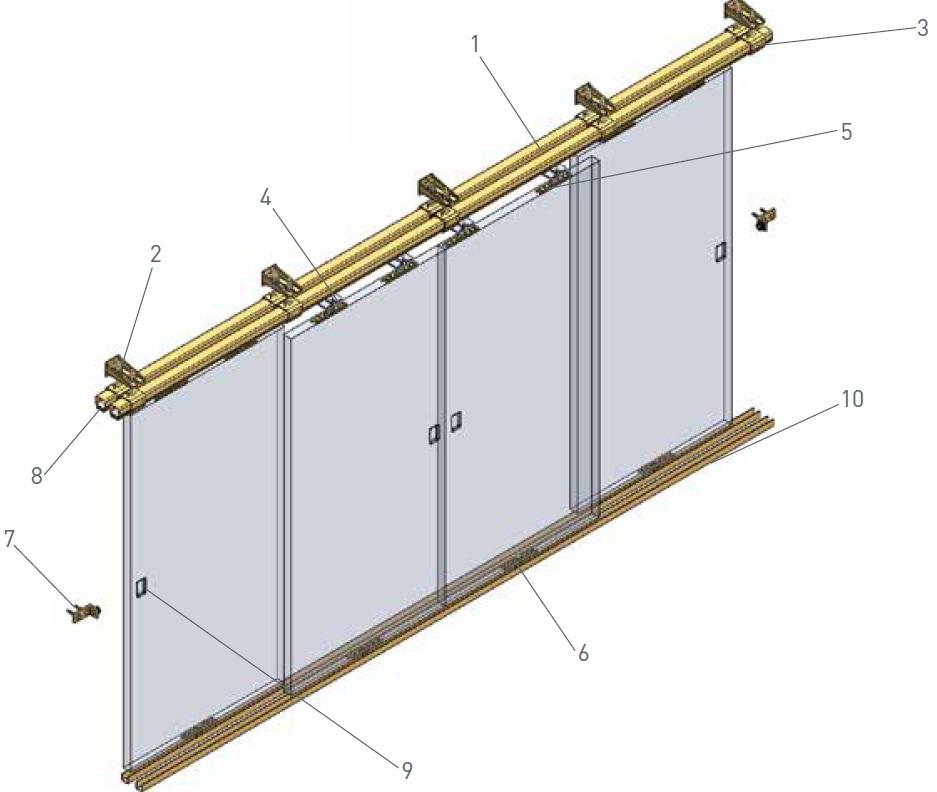 Industrial sliding door track pictures to pin on pinterest for Sliding door rail