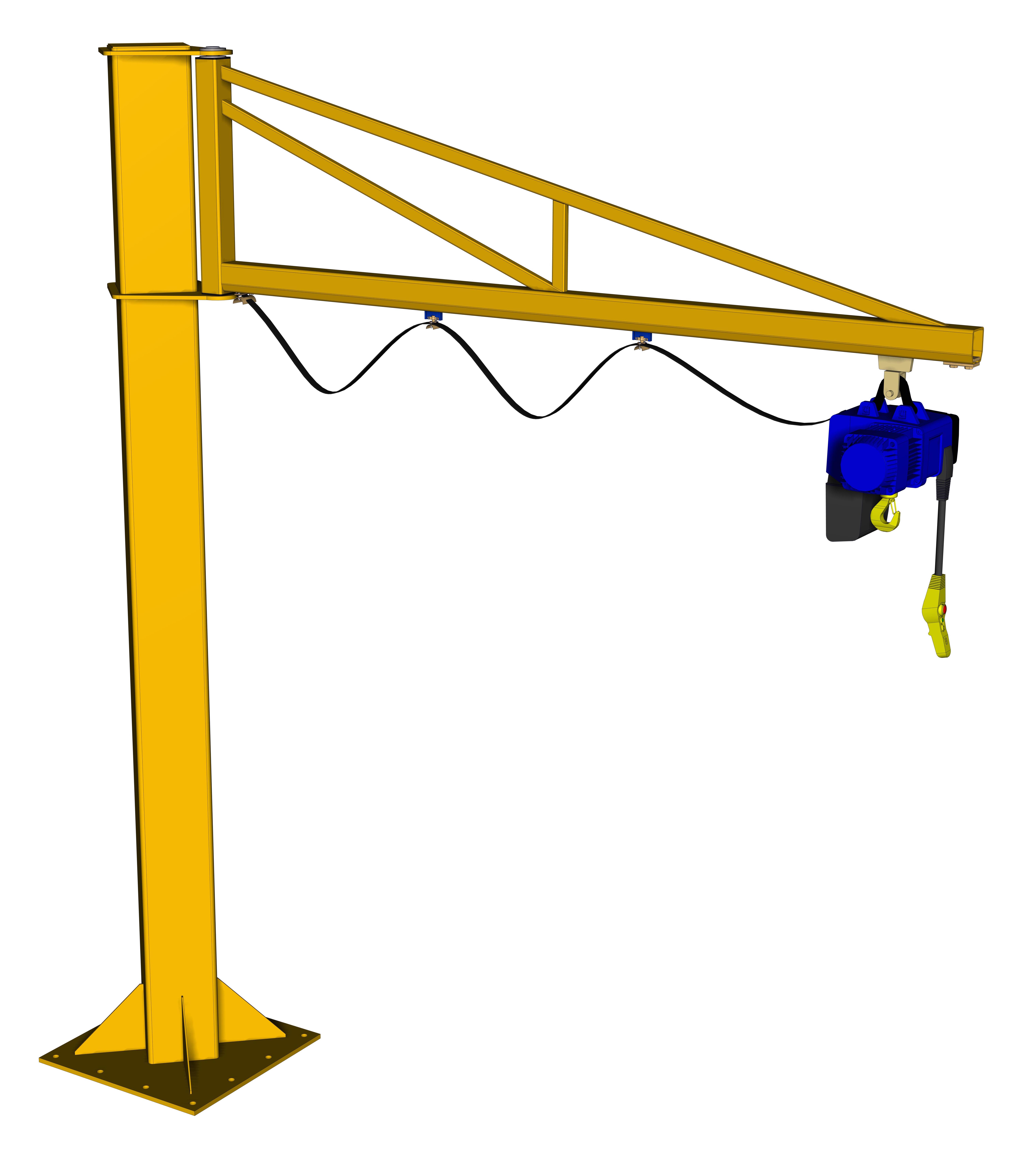 Jib Cranes Images : Free standing jib crane price only ?poa call