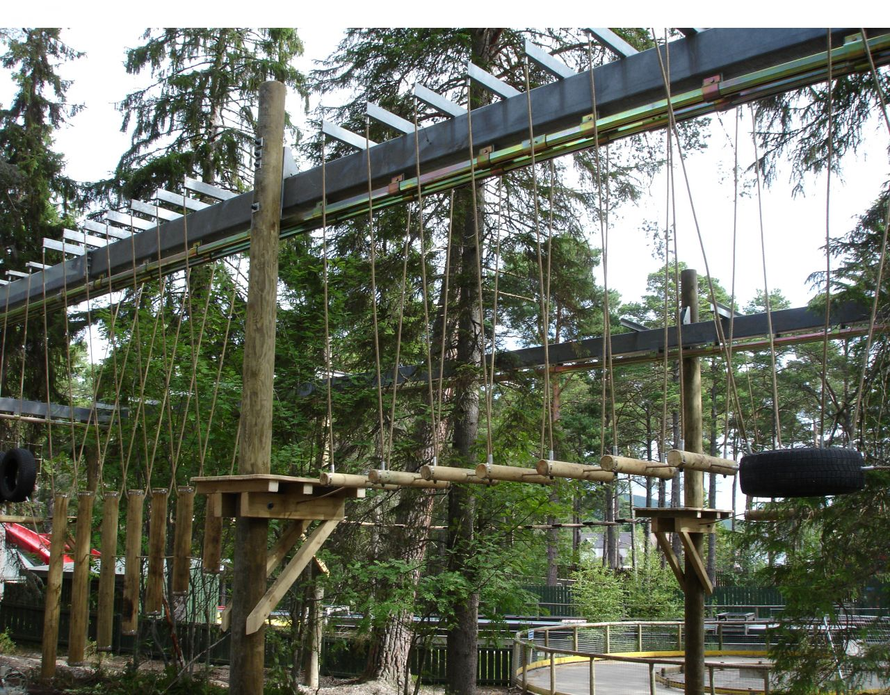 Niko Fall Arrest Track for High Ropes Course